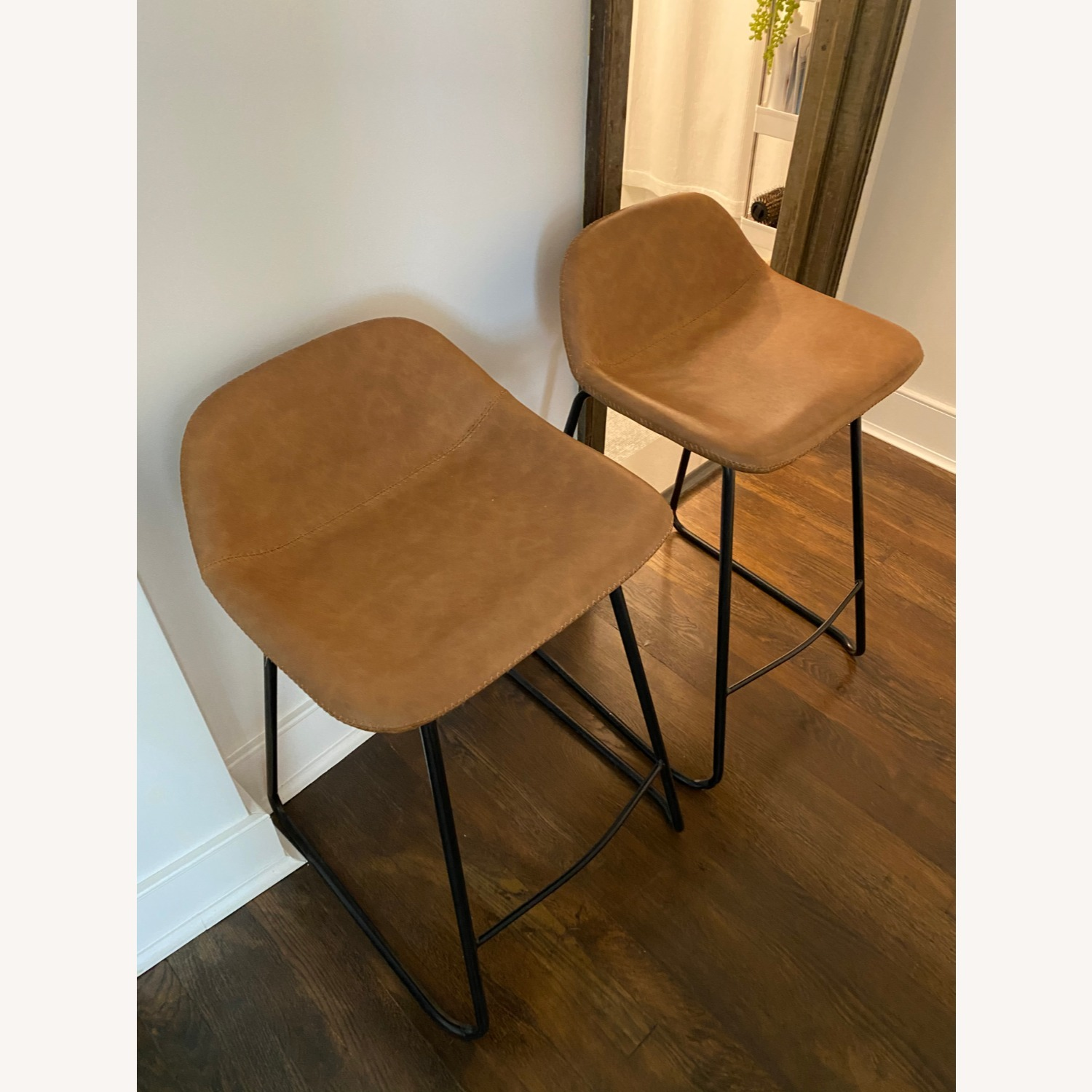Wayfair Leather Bar Stools (2) Counter Height - image-2