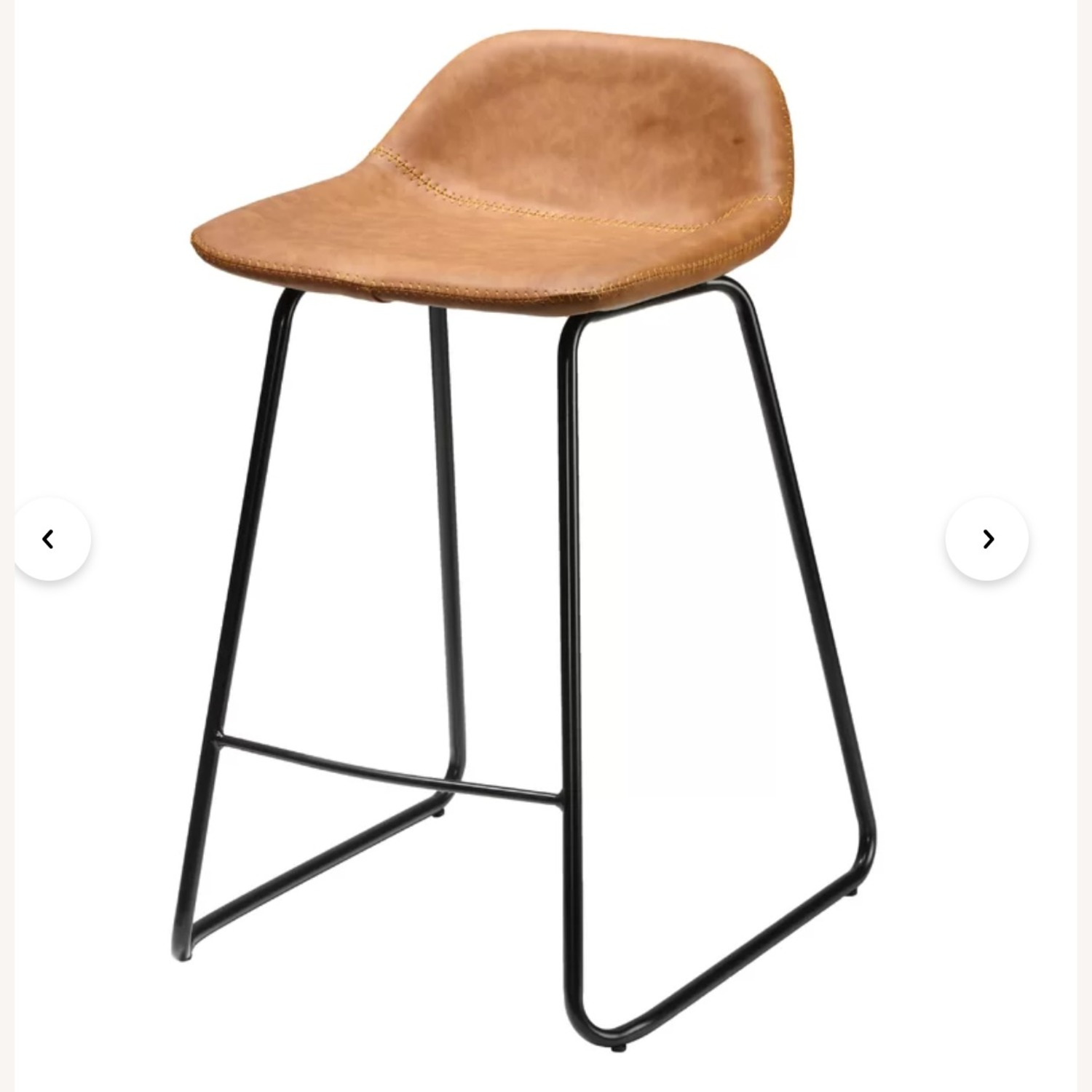 Wayfair Leather Bar Stools (2) Counter Height - image-1