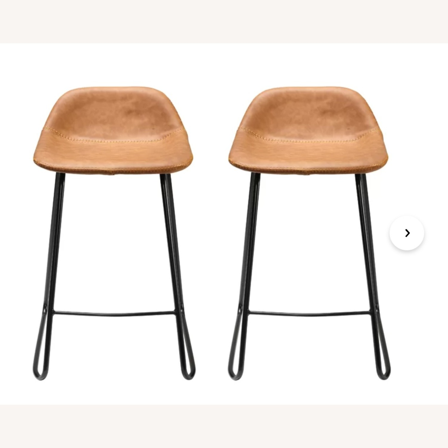 Wayfair Leather Bar Stools (2) Counter Height - image-4