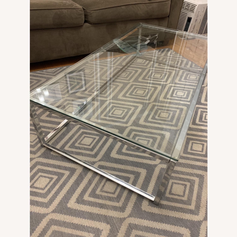 CB2 Glass Coffee Table - image-1