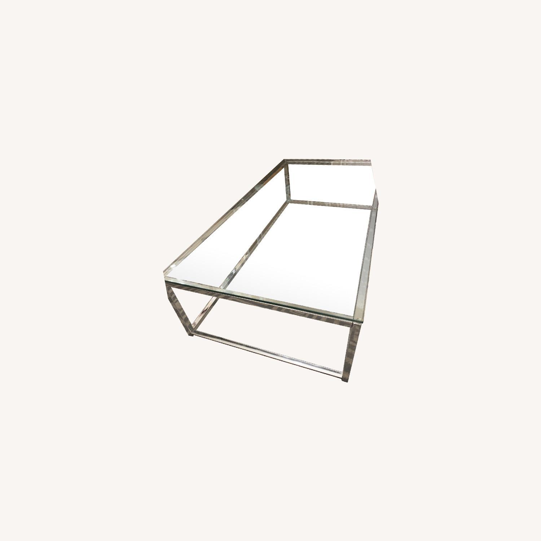 CB2 Glass Coffee Table - image-0