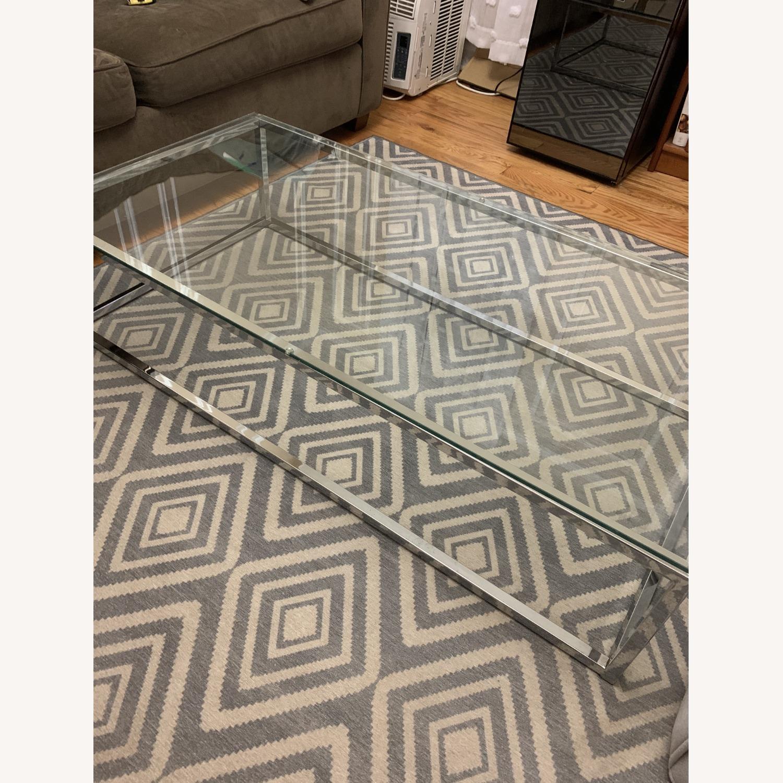 CB2 Glass Coffee Table - image-2