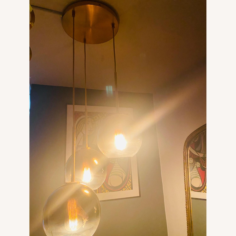 West Elm Sculptural Glass 3-Light Globe Chandelier - image-4