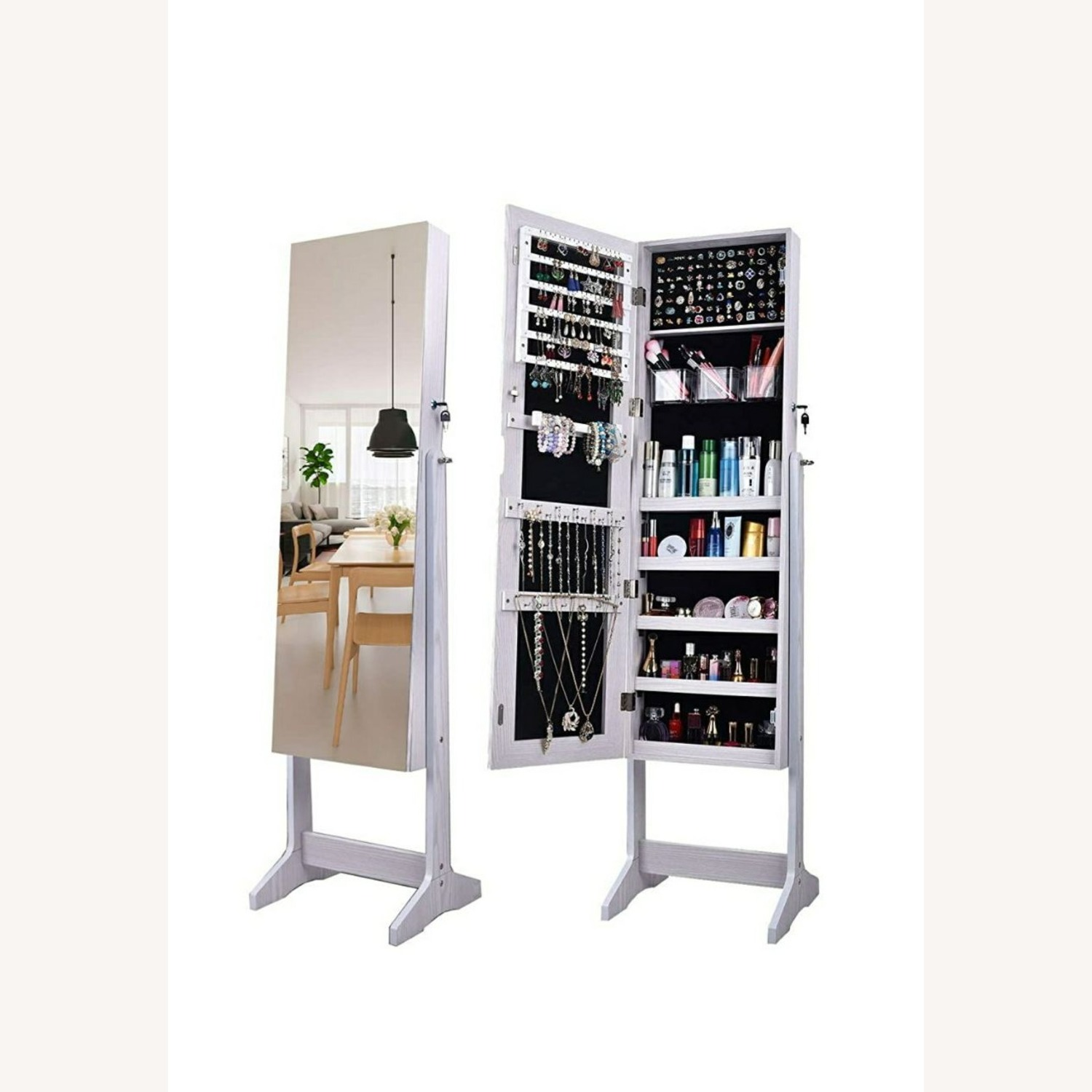 CISCO Brothers Full Length Mirror and Jewelry Organizer - image-1
