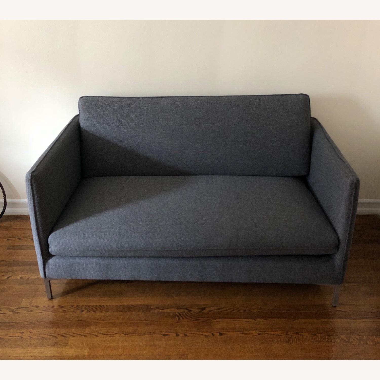 CB2 Flatiron Grey Sofa - image-1