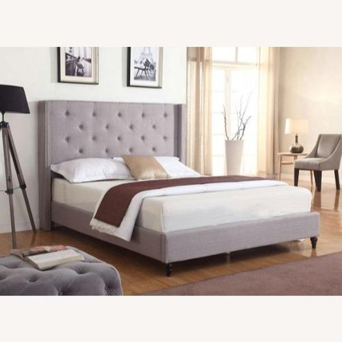 Used Tall Headboard Platform King Bed for sale on AptDeco