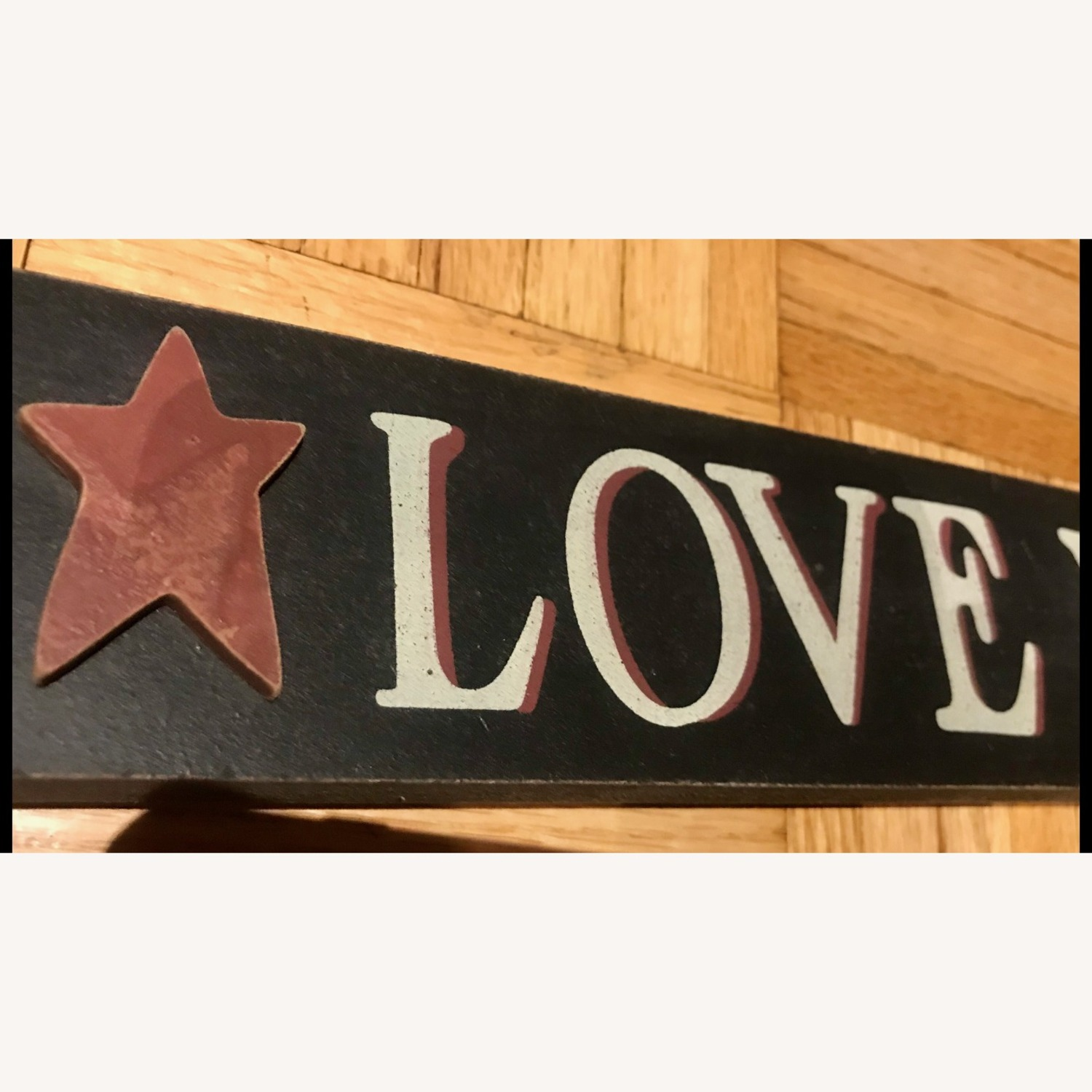 """""""LIVE, LAUGH, LOVE"""" Black Hand Painted Wood Sign - image-4"""