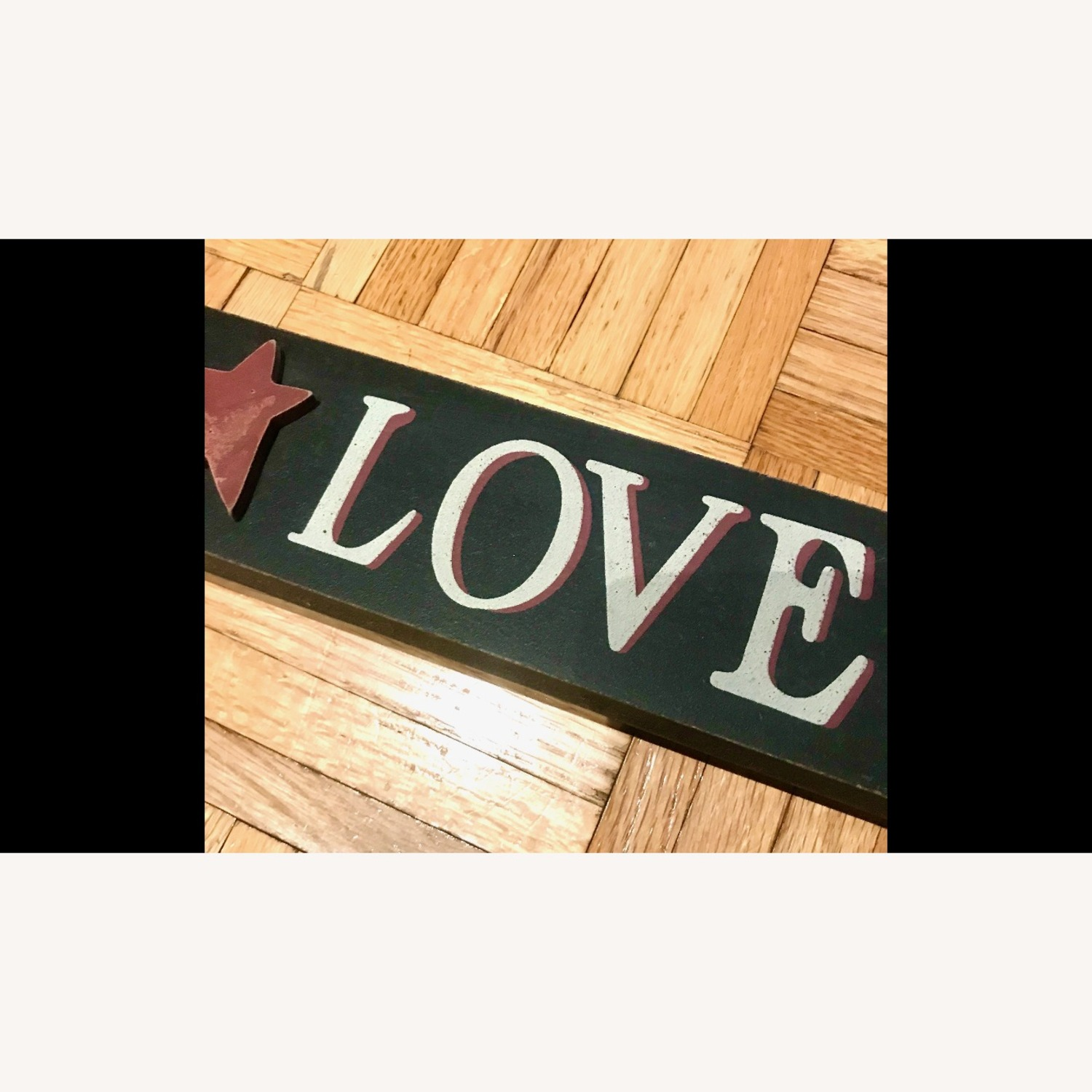 """""""LIVE, LAUGH, LOVE"""" Black Hand Painted Wood Sign - image-3"""