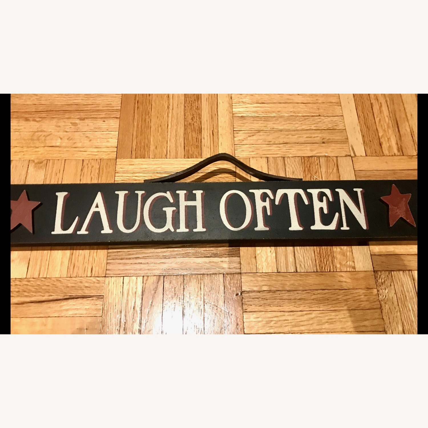 """""""LIVE, LAUGH, LOVE"""" Black Hand Painted Wood Sign - image-2"""