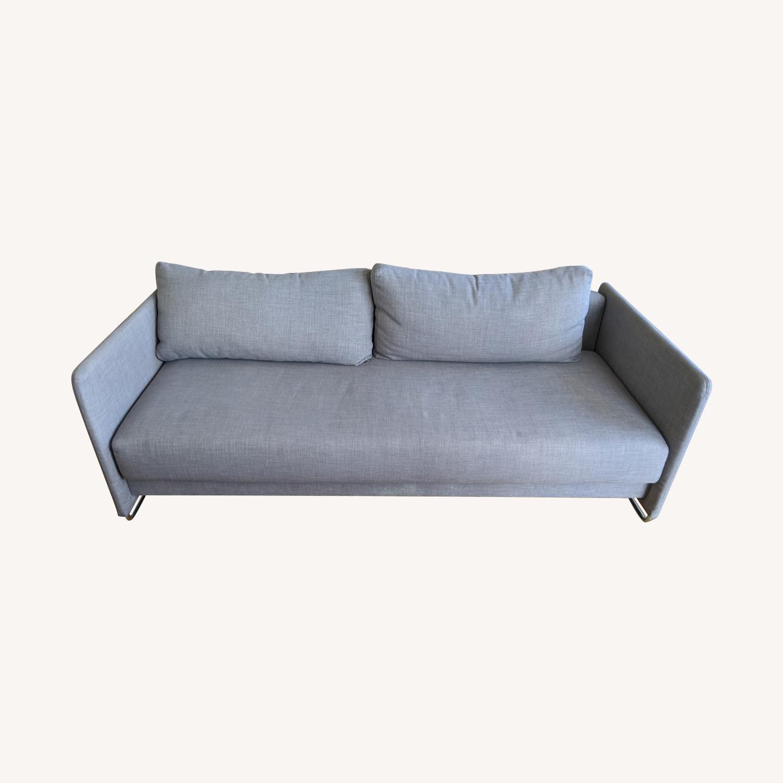 CB2 Tandom Dark Grey Sleeper Sofa - image-0
