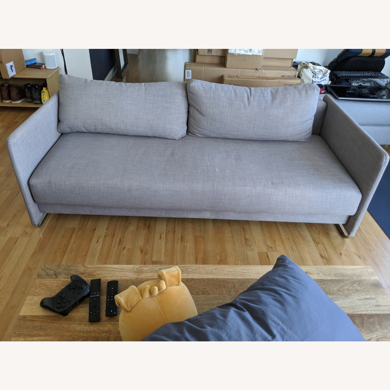 CB2 Tandom Dark Grey Sleeper Sofa - image-1