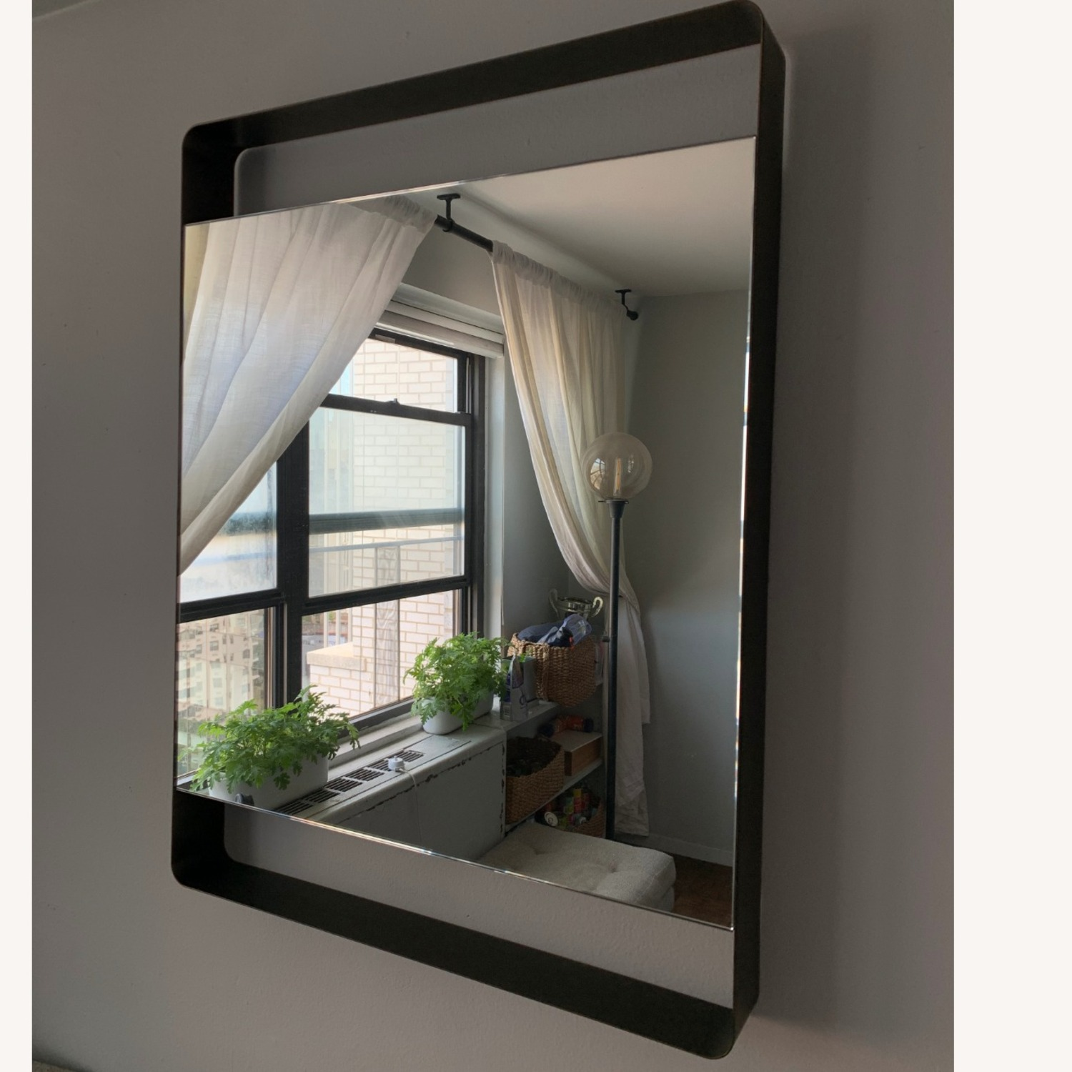 Crate & Barrel Colby Brass Mirror - image-1