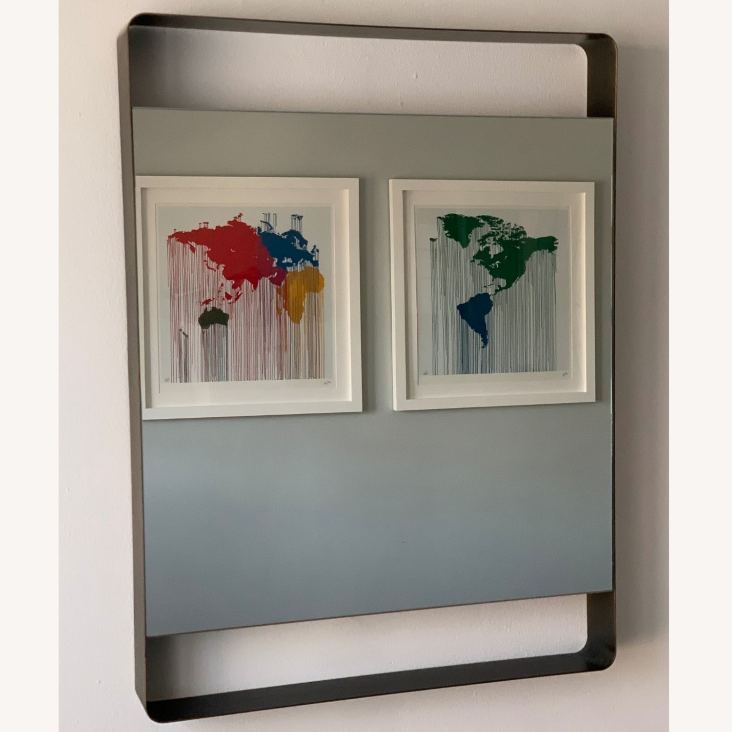 Crate & Barrel Colby Brass Mirror - image-9