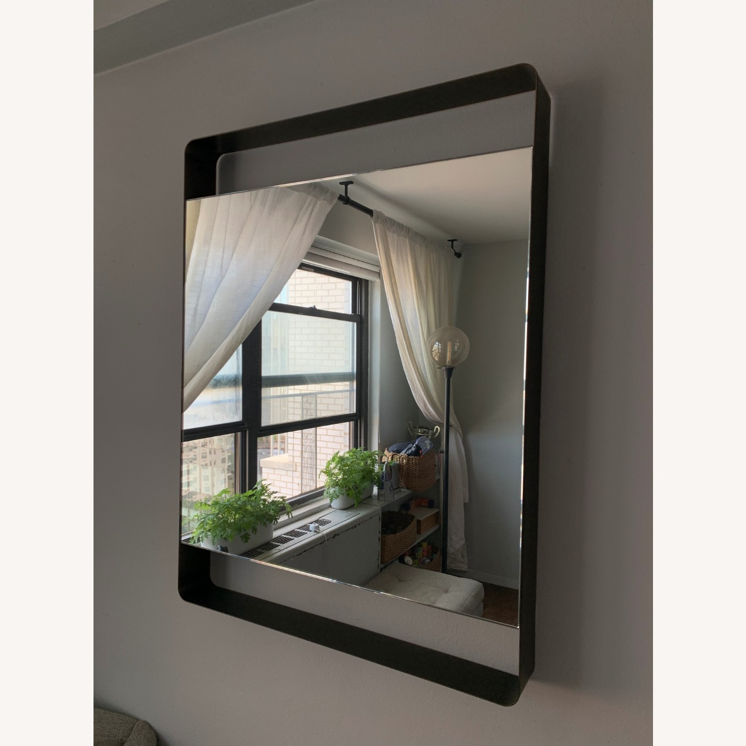 Crate & Barrel Colby Brass Mirror - image-8