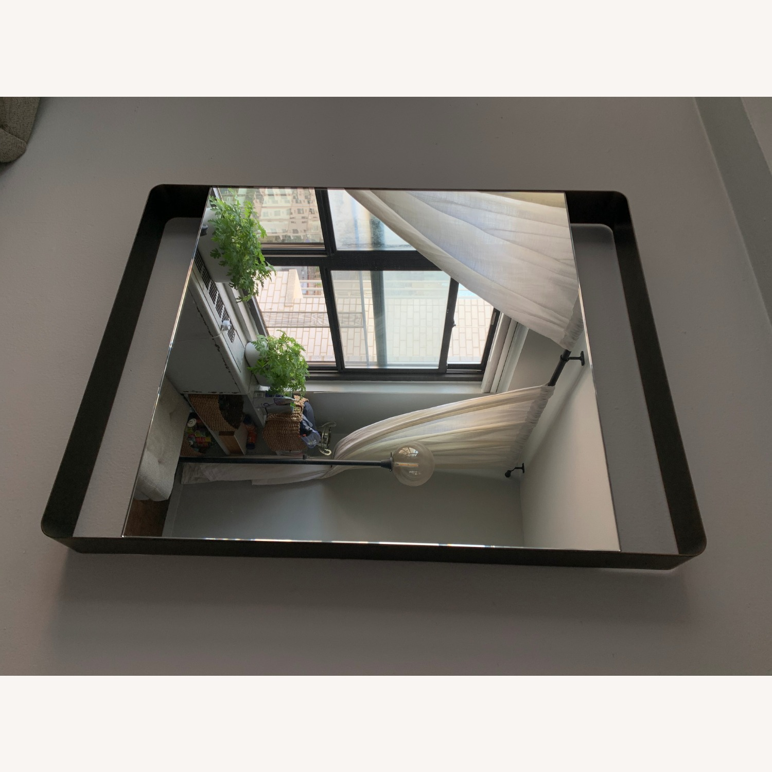 Crate & Barrel Colby Brass Mirror - image-5