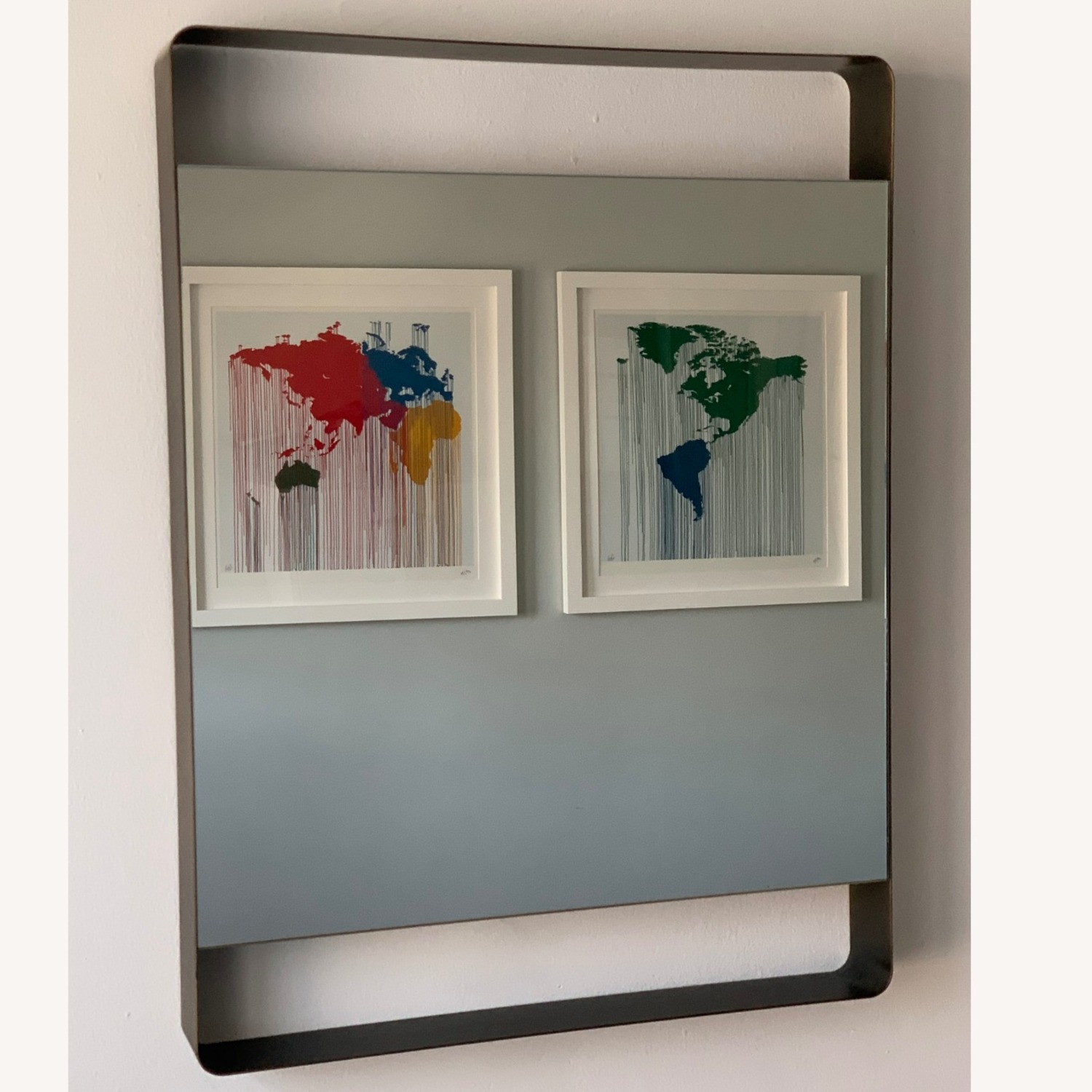 Crate & Barrel Colby Brass Mirror - image-2
