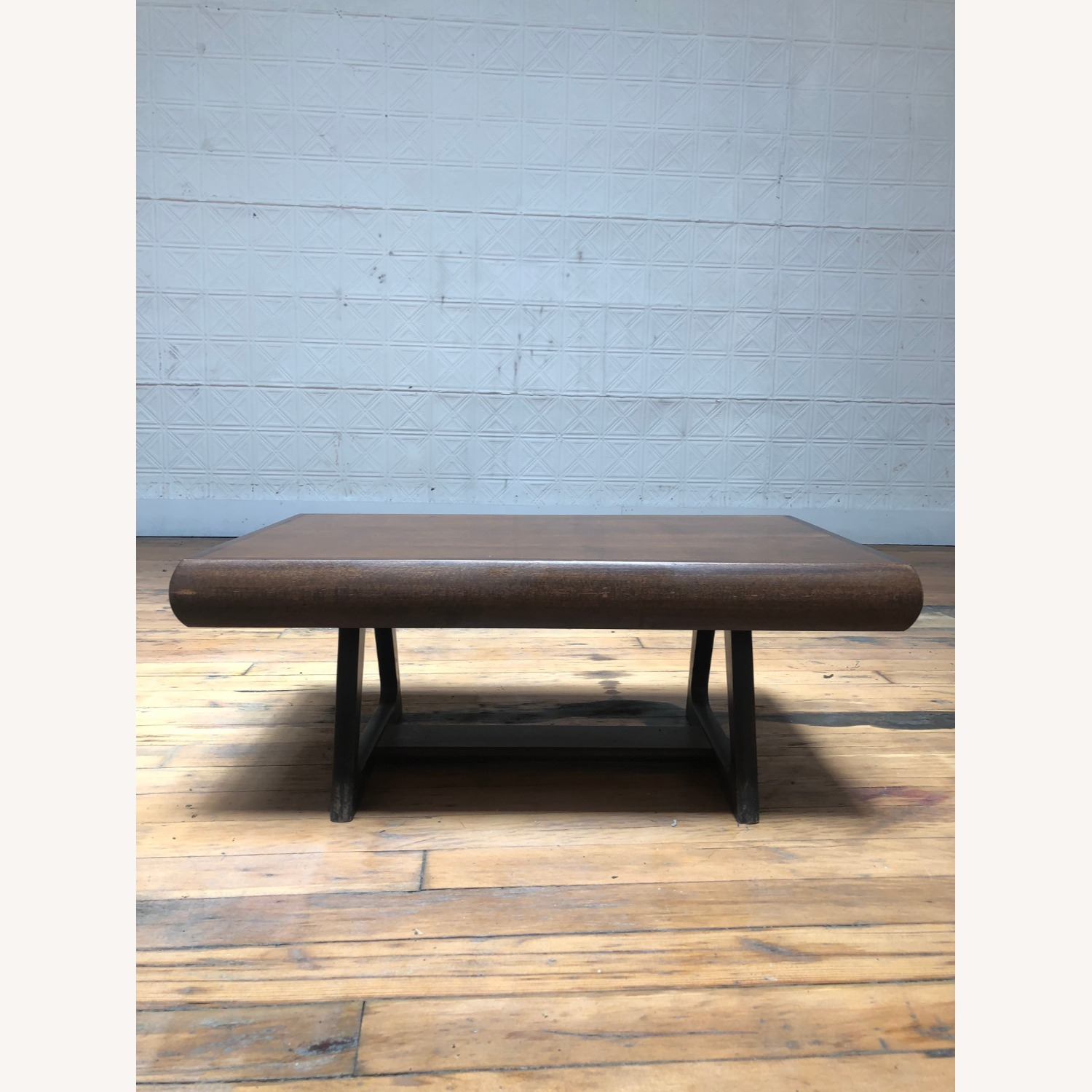Mid Century Modern Low Walnut End Table - image-5