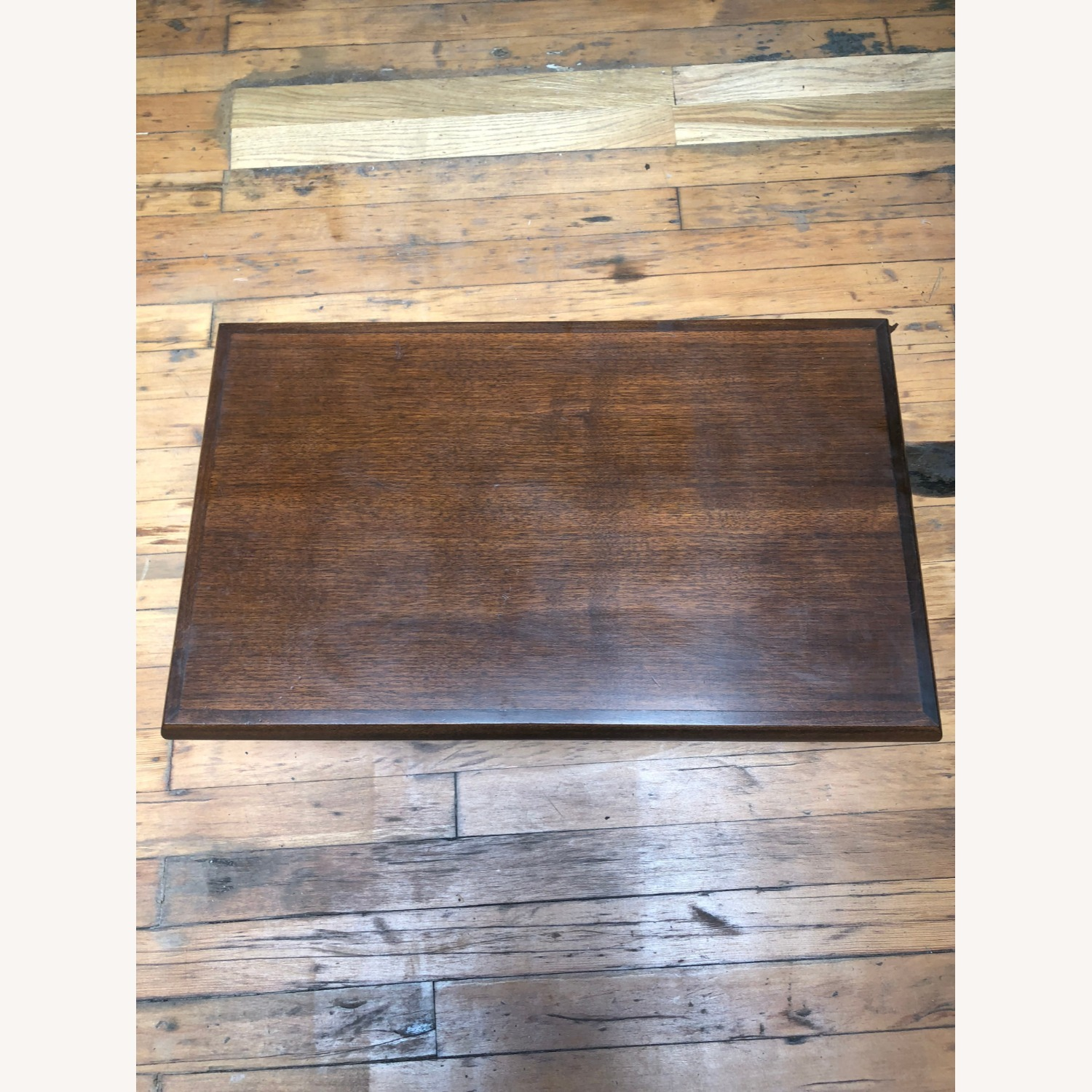 Mid Century Modern Low Walnut End Table - image-9