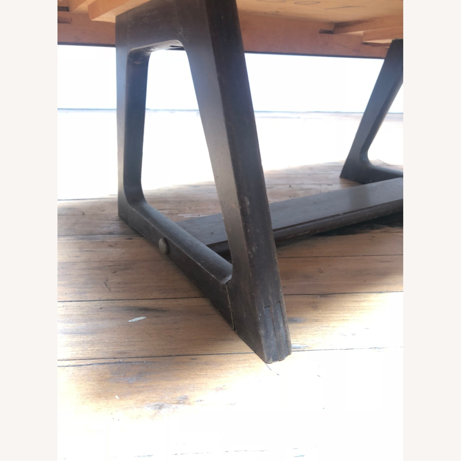 Mid Century Modern Low Walnut End Table - image-3