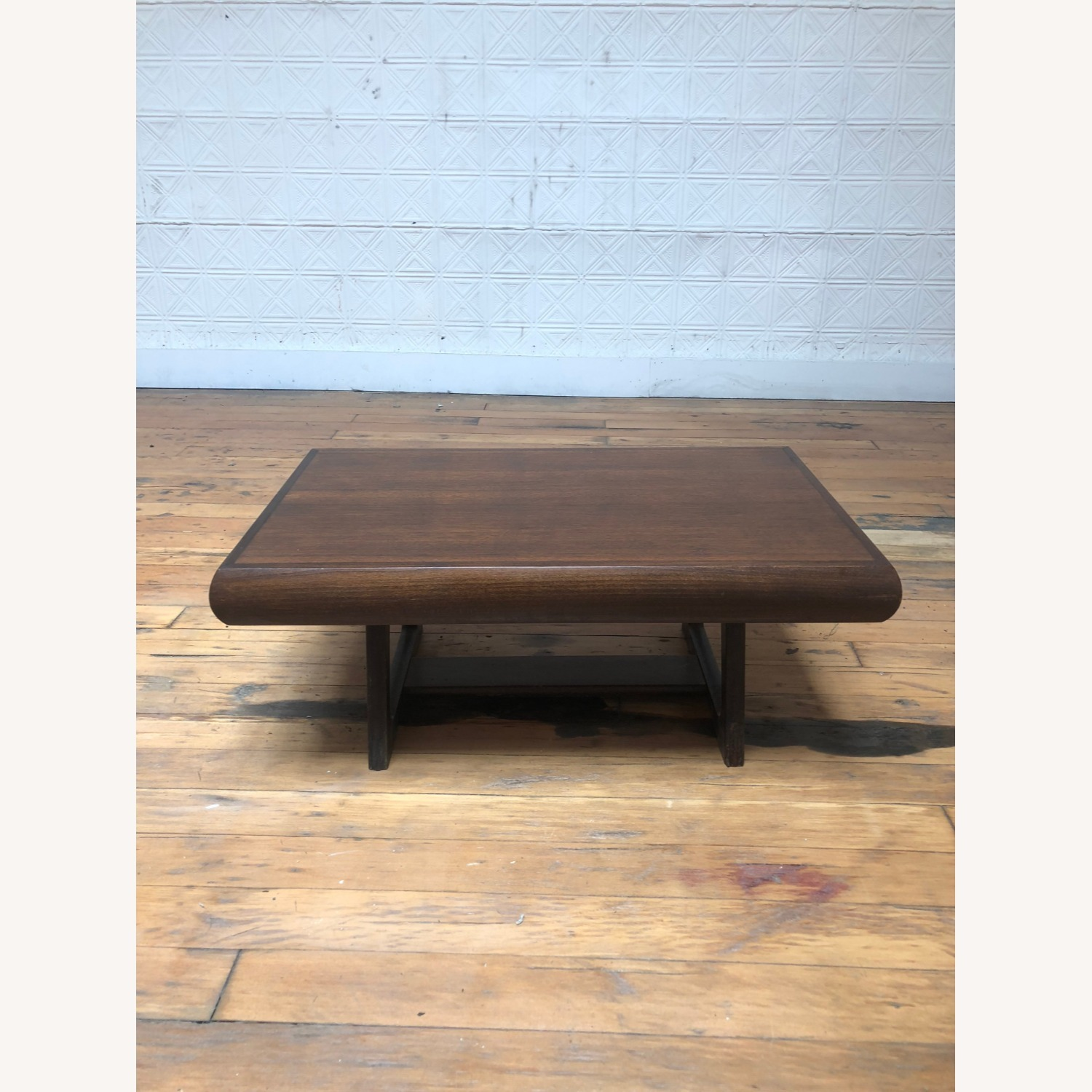 Mid Century Modern Low Walnut End Table - image-4