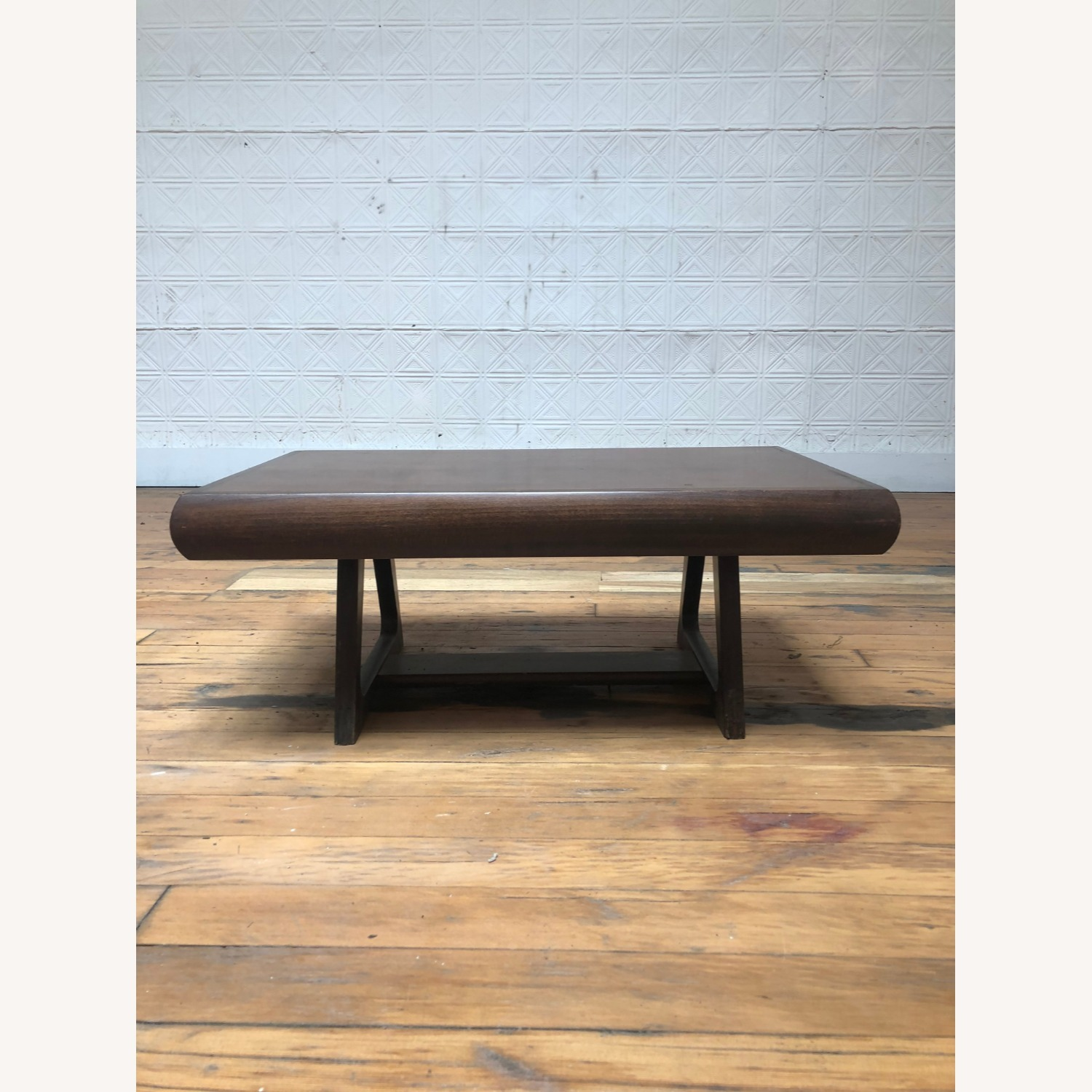 Mid Century Modern Low Walnut End Table - image-2