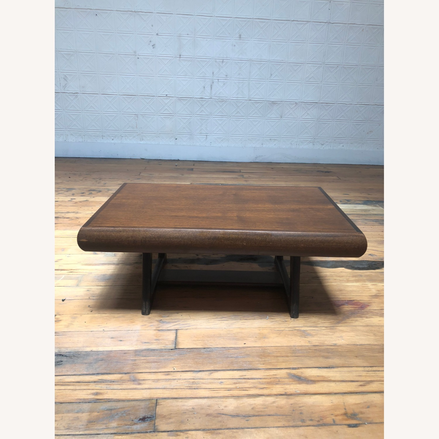 Mid Century Modern Low Walnut End Table - image-6