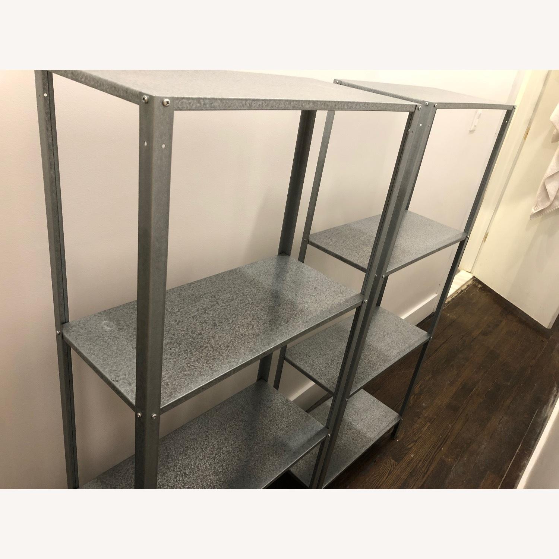 Two Metal Shelving Units - image-4