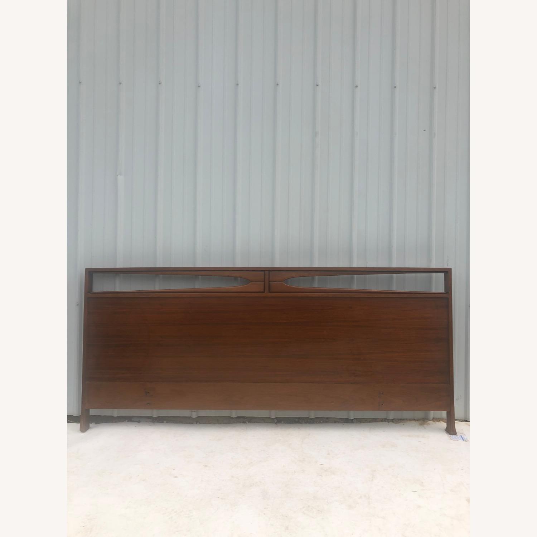 Mid Century Walnut Queen Headboard - image-1