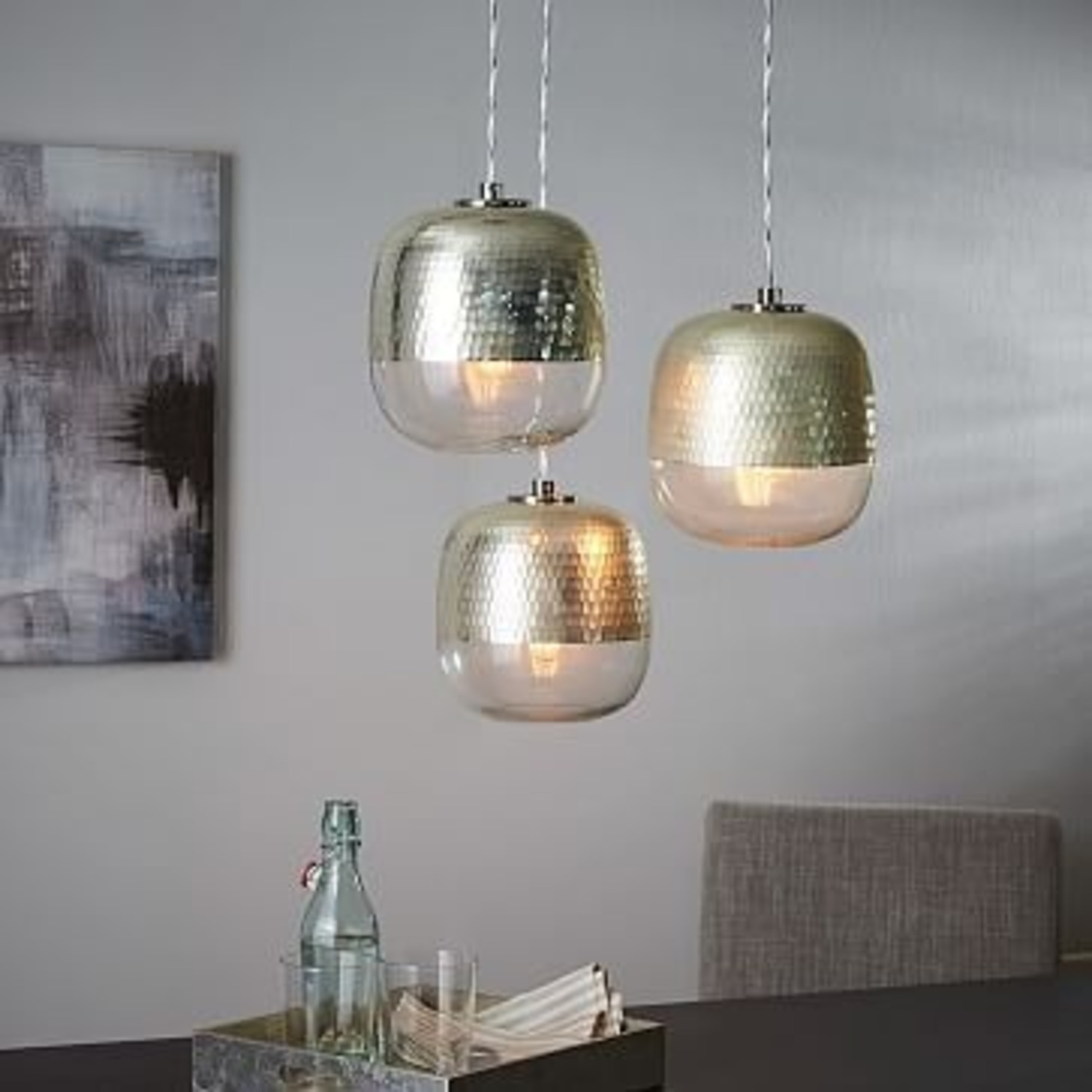 West Elm Metallic Honeycomb Chandelier  - image-2