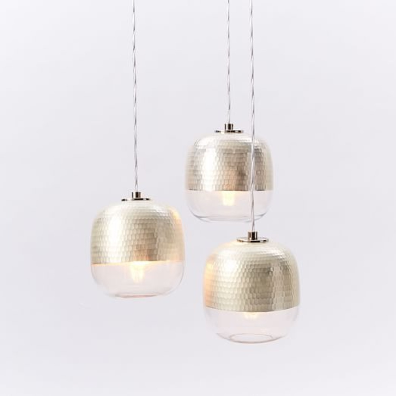 West Elm Metallic Honeycomb Chandelier  - image-1