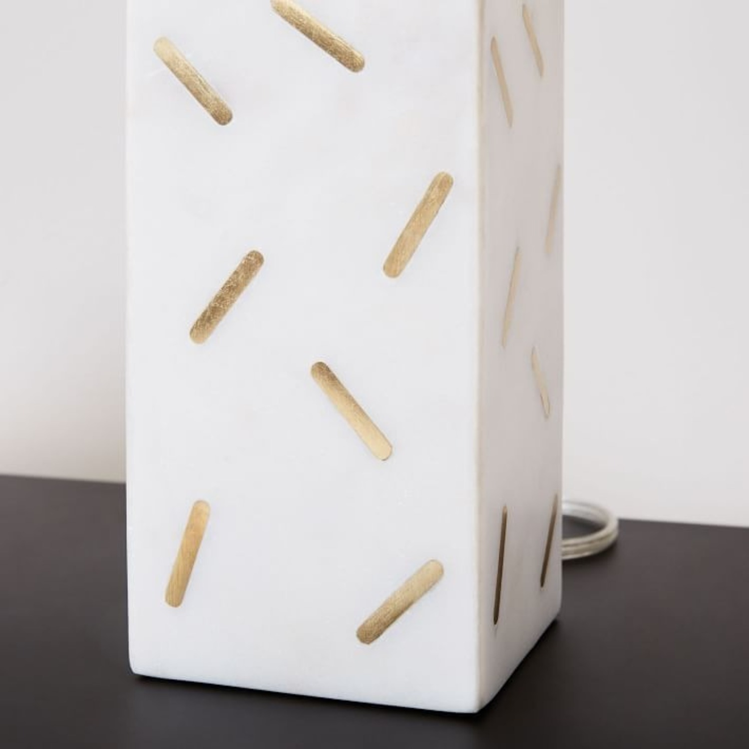 West Elm Graphic Brass Inlay Table Lamp  - image-2