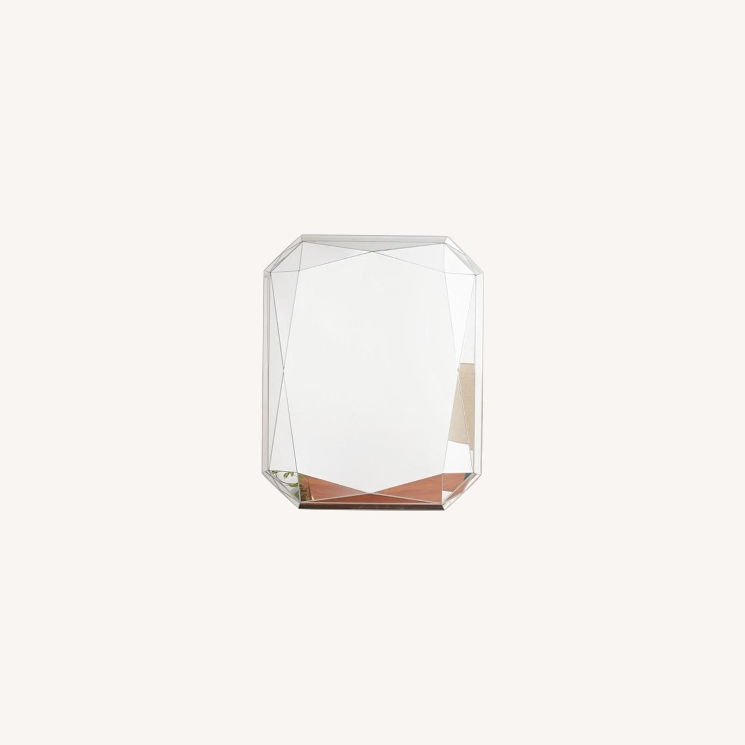 West Elm Faceted Wall Mirror, Emerald Cut - image-0