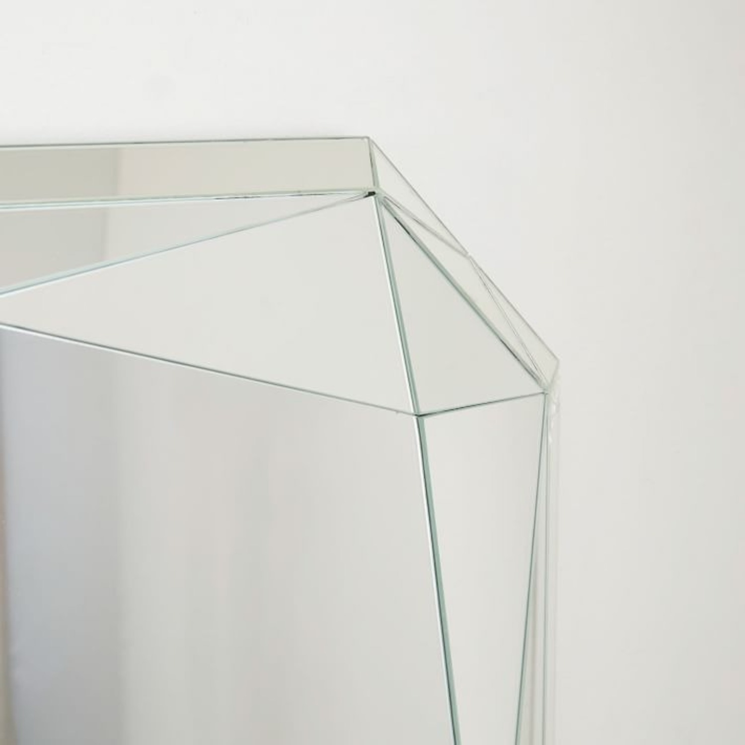West Elm Faceted Wall Mirror, Emerald Cut - image-3