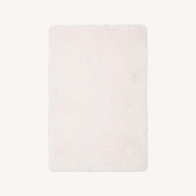 West Elm Cozy Plush Rug, White - image-0