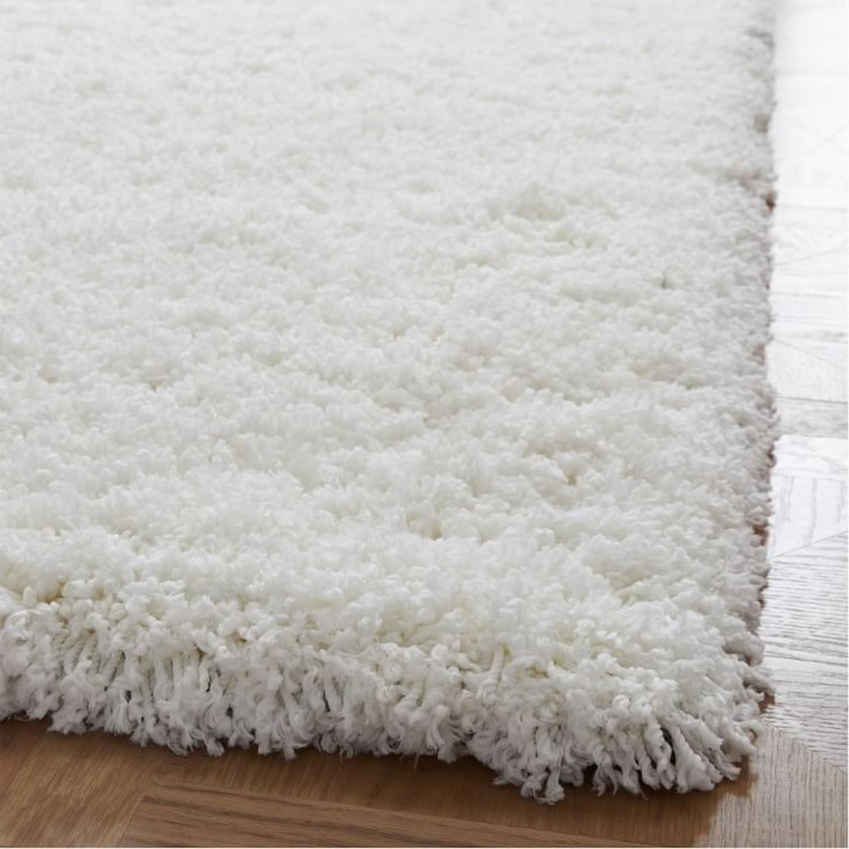 West Elm Cozy Plush Rug, White - image-2