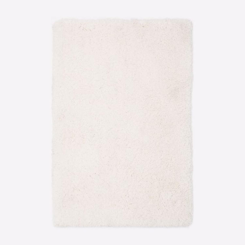 West Elm Cozy Plush Rug, White - image-1