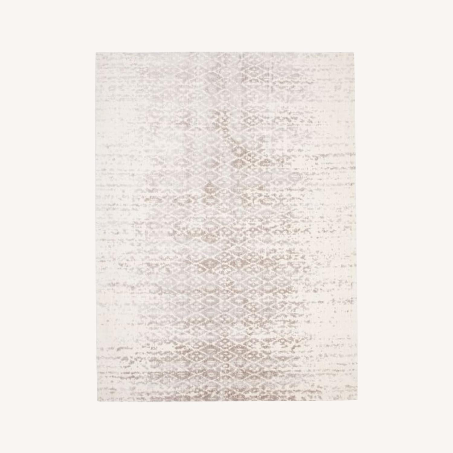 West Elm Foil Diamonds Rug, Platinum - image-0