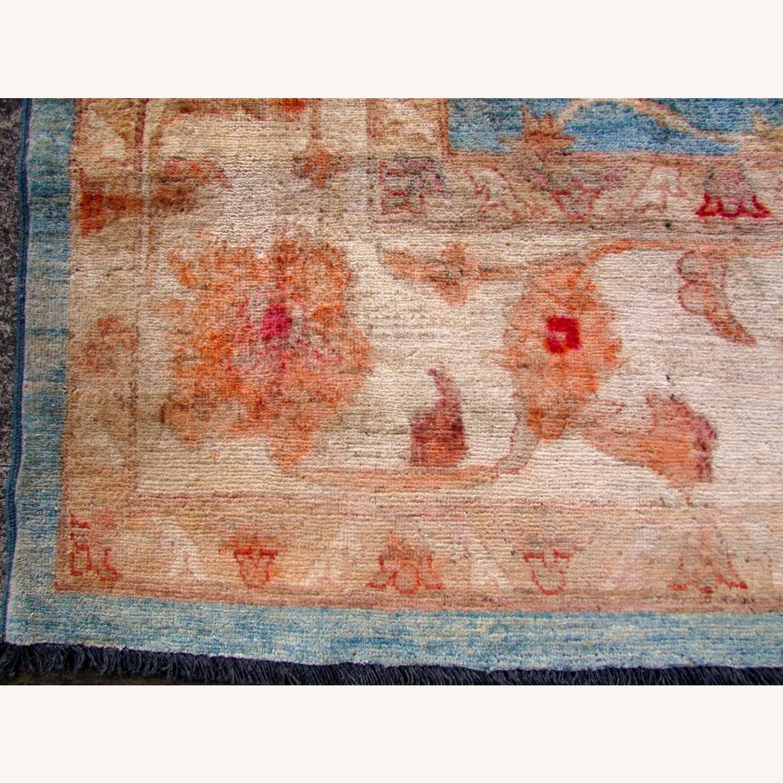 Handmade Vintage Afghan Zigler Rug - image-7
