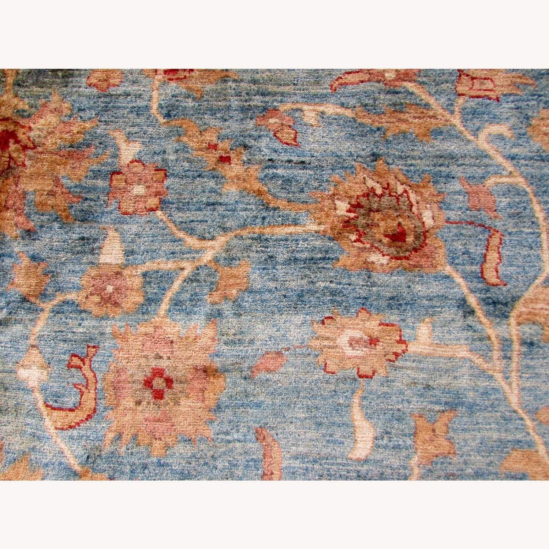 Handmade Vintage Afghan Zigler Rug - image-3