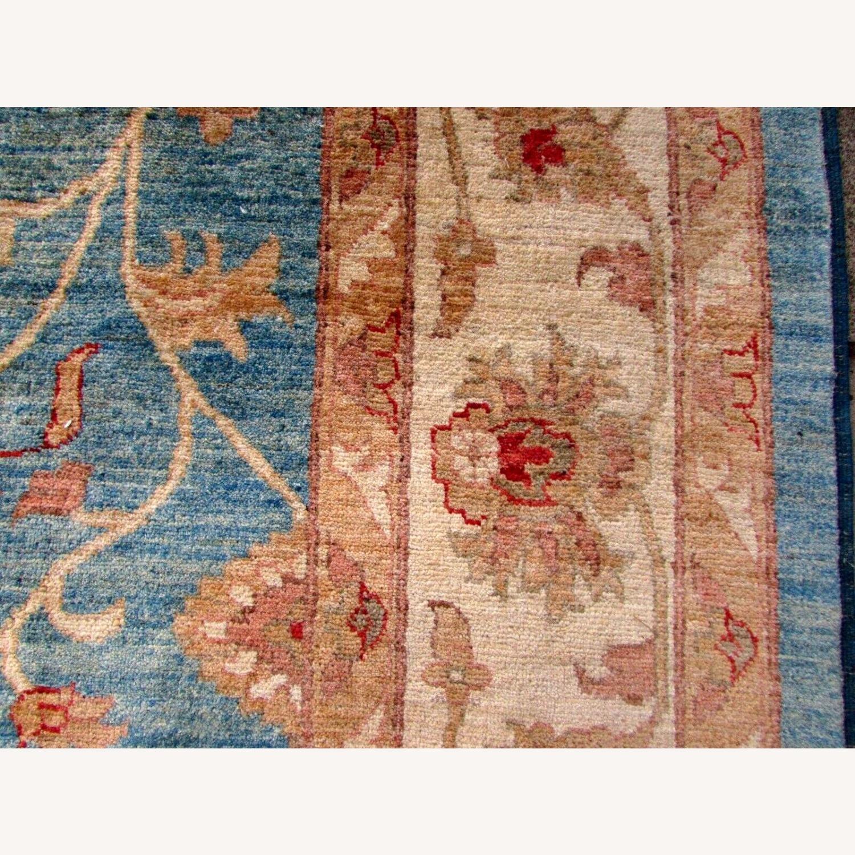 Handmade Vintage Afghan Zigler Rug - image-4