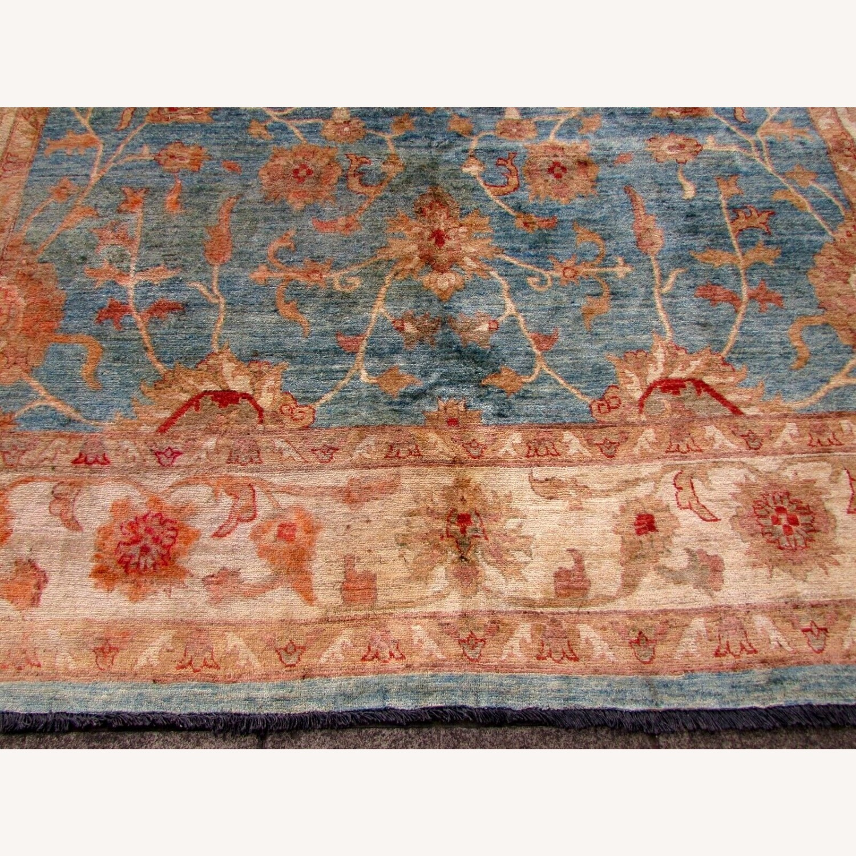 Handmade Vintage Afghan Zigler Rug - image-11