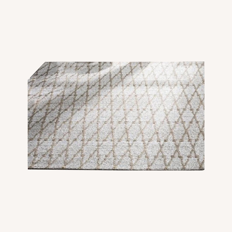 Safavieh Geometric Handmade Flatweave Silver/Natural Rug - image-0