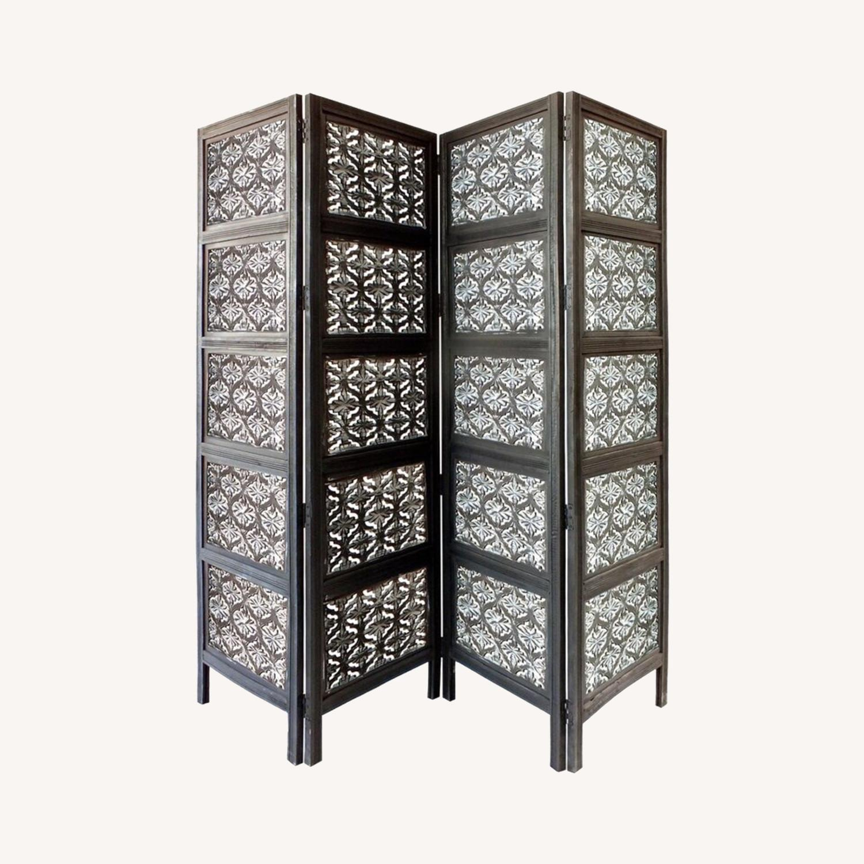 Wayfair 4 Panel Wood Room Divider - image-0