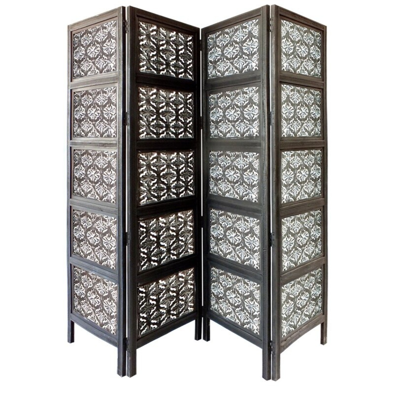 Wayfair 4 Panel Wood Room Divider - image-2