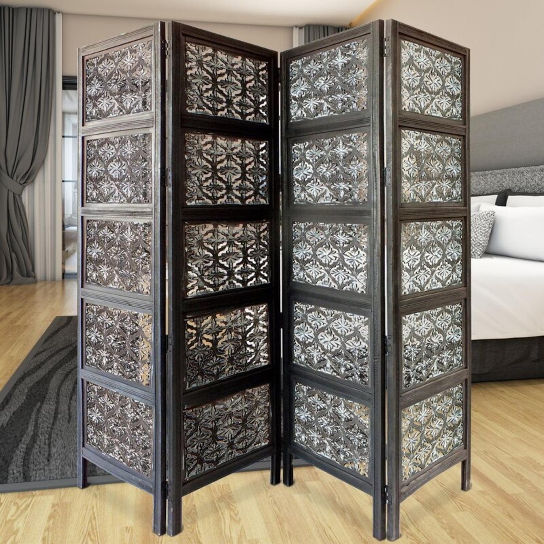 Wayfair 4 Panel Wood Room Divider - image-1