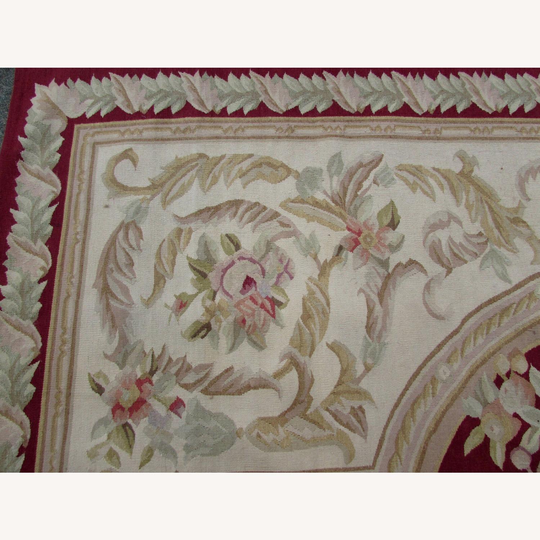 Handmade Vintage French Aubusson Rug - image-10