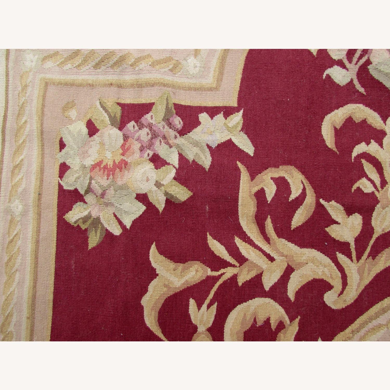 Handmade Vintage French Aubusson Rug - image-6