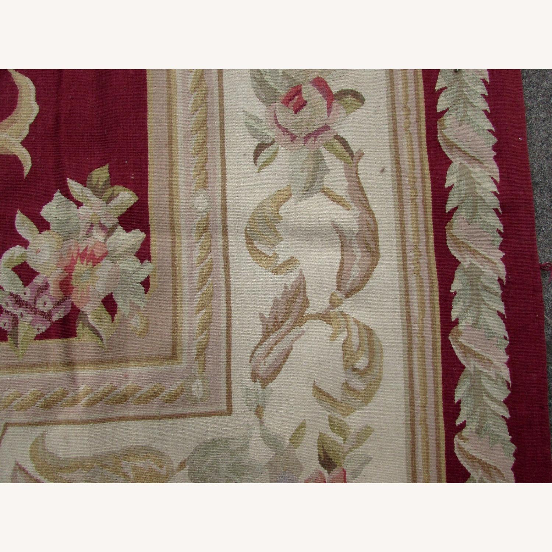 Handmade Vintage French Aubusson Rug - image-8