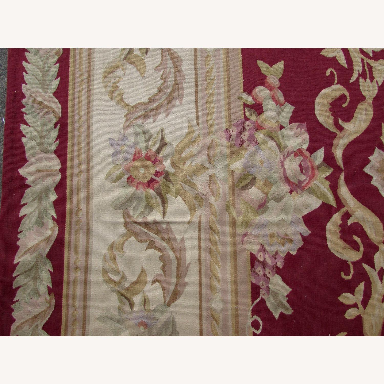 Handmade Vintage French Aubusson Rug - image-5