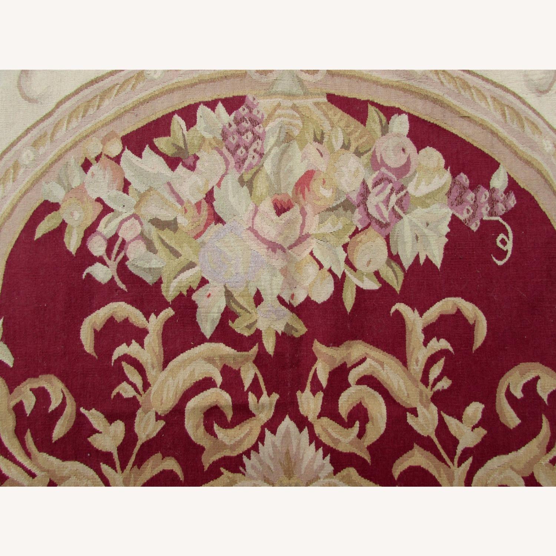 Handmade Vintage French Aubusson Rug - image-2